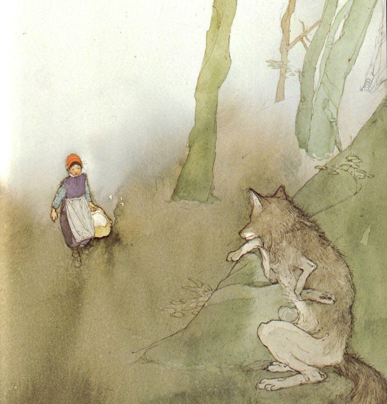 Little Red Cap illustrated by Lisbeth Zwerger