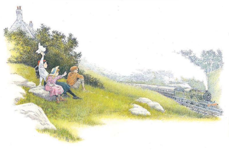 E. Nesbit's The Railway Children illustrated by Inga Moore