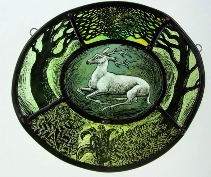 White deer by Tamsin Abbott