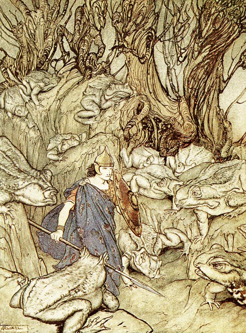Becuma of the White Skin by Arthur Rackham