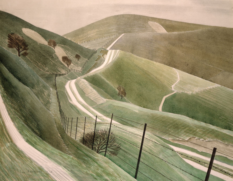 Chalk Paths by by Eric Ravilious
