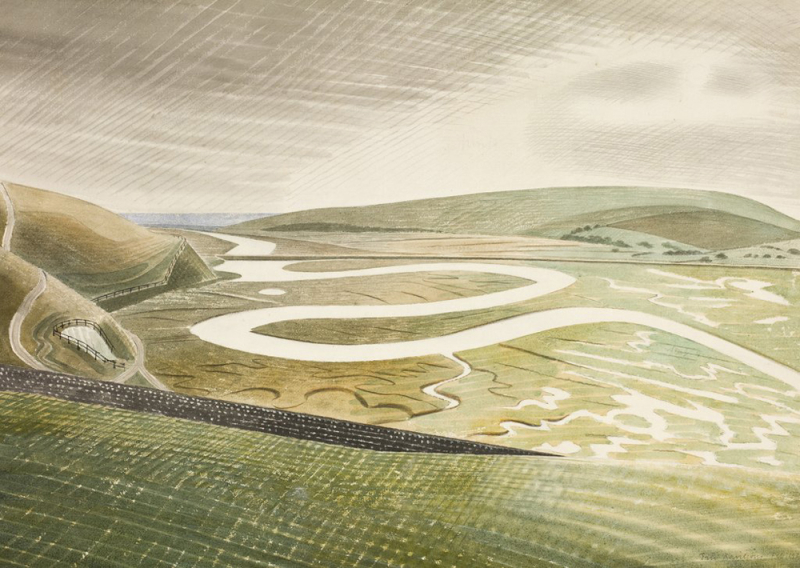 Cuckmere Haven by Eric Ravilious