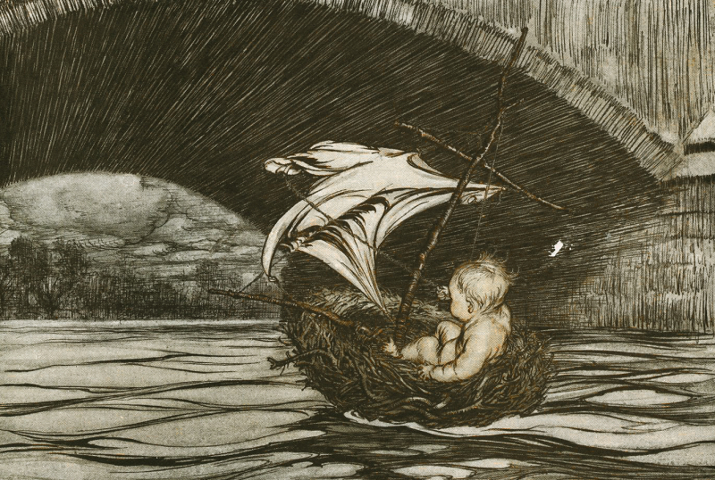 From Peter Pan in Kensington Garden illustrated by Arthur Rackham