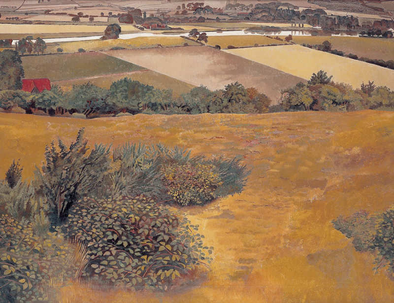 A View of the Thames from Cockmarsh Hill by Stanley Spencer