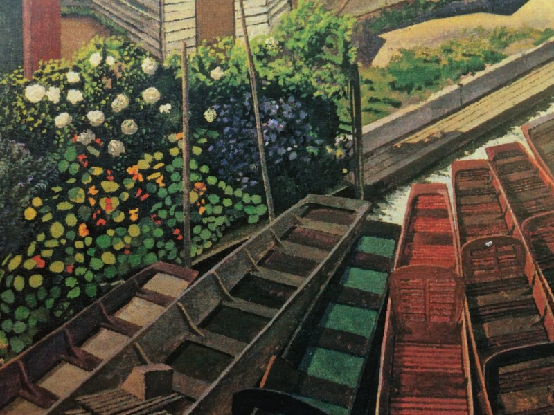 View from Cookham Bridge by Stanley Spencer