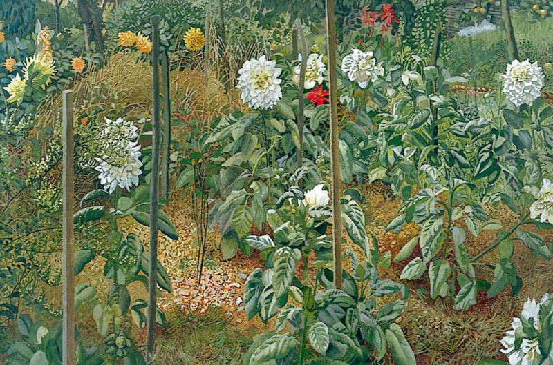 The Garden at Cookham Rise by Stanley Spencer