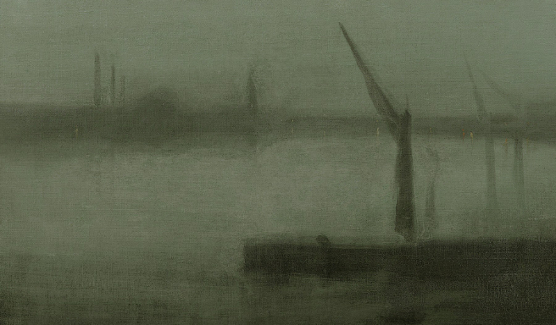 Nocturne in Blue and Silver (Battersea Reach) by James McNeill Whistler