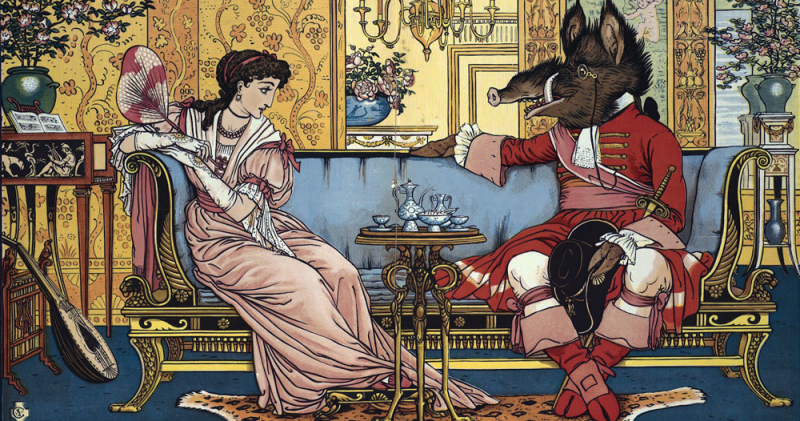 Beauty and the Beast by Walter Crane