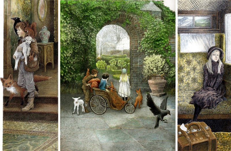Illustrations from The Secret Garden by Inga Moore