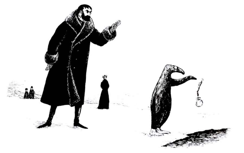 From The Doubtful Guest by Edward Gorey