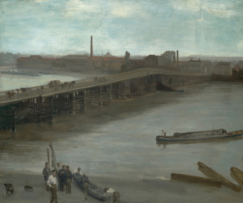 Nocturne in Brown and Silver (Old Battersea Bridge) by James McNeill Whistler