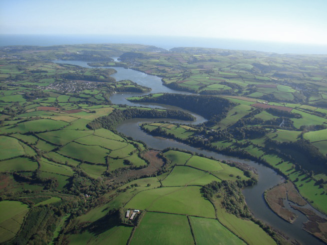 The River Dart running to the sea